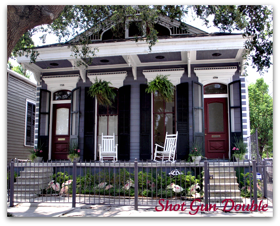 New orleans living architectural walking tours for Double shotgun house plans