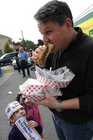 Chow down on po-boys from more than 30 different food vendors this Sunday at Oak Street Po-Boy Festival. Photo: Cheryl Gerber and NewOrleansOnline.com