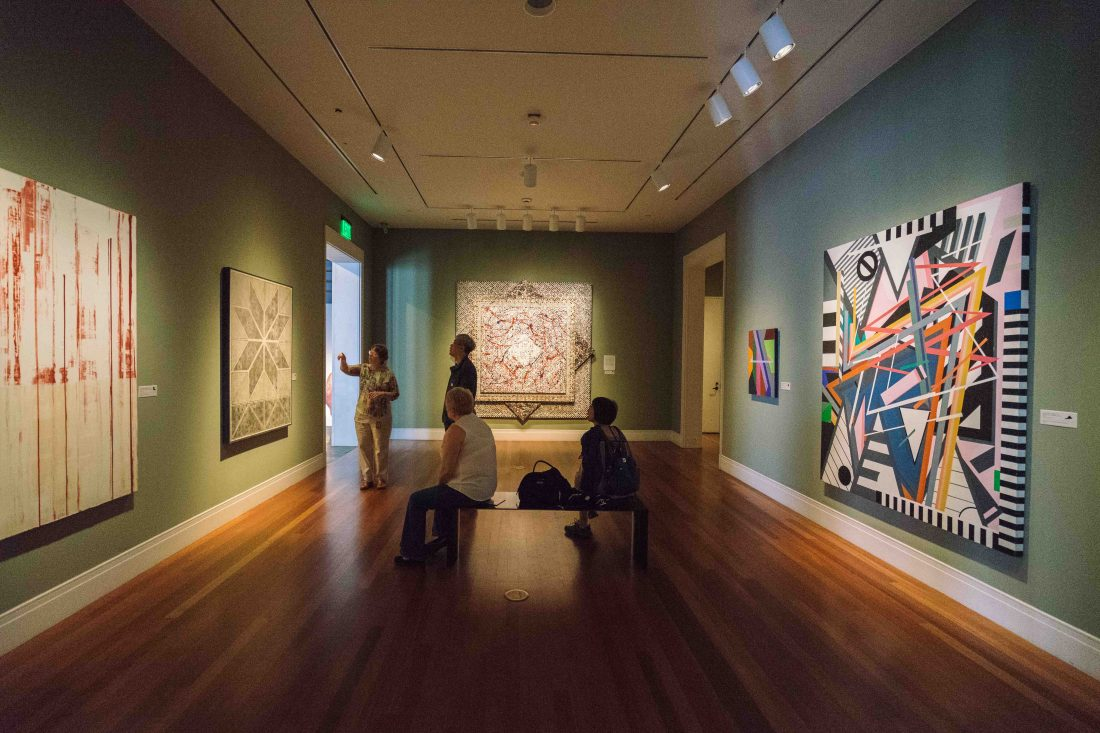 Inside a gallery from the permanent collection at the Ogden Museum of Southern Art. The collection is constantly rotating among the five floors of galleries inside the museum.