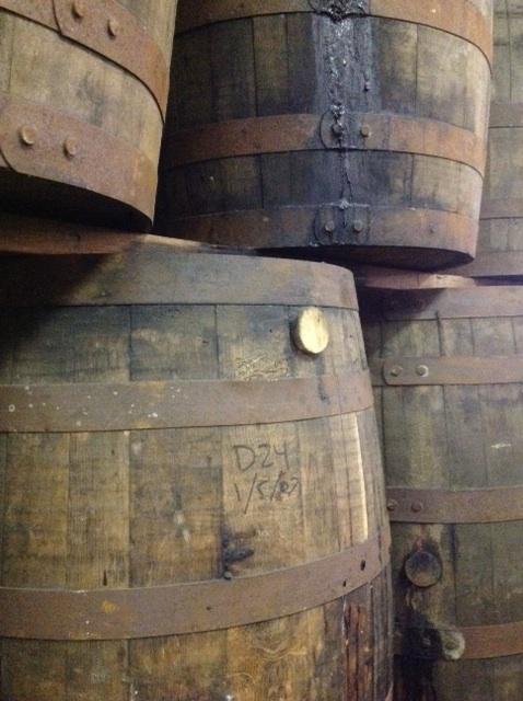 Oak barrels at Old New Orleans Rum.