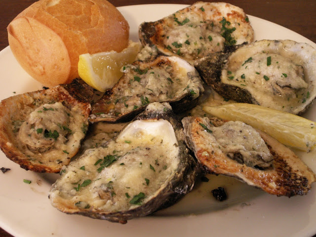 Acme Oyster's chargrilled oysters! (Photo courtesy of Dan Leyten)