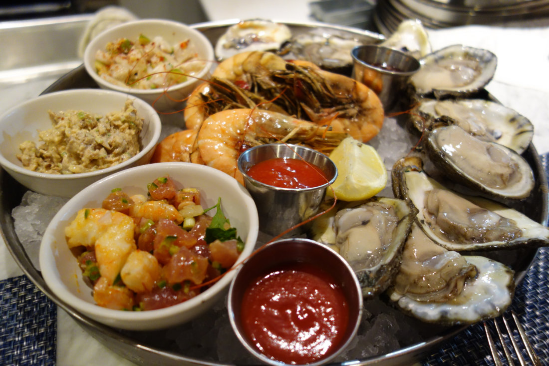 A mixed seafood platter from Peche. Other recommendations are to listen to your server about what's fresh that day, as there are ever-changing whole fish specials, grilled in their wood oven. It's advisable to get reservations, as Peche is still a hot ticket.