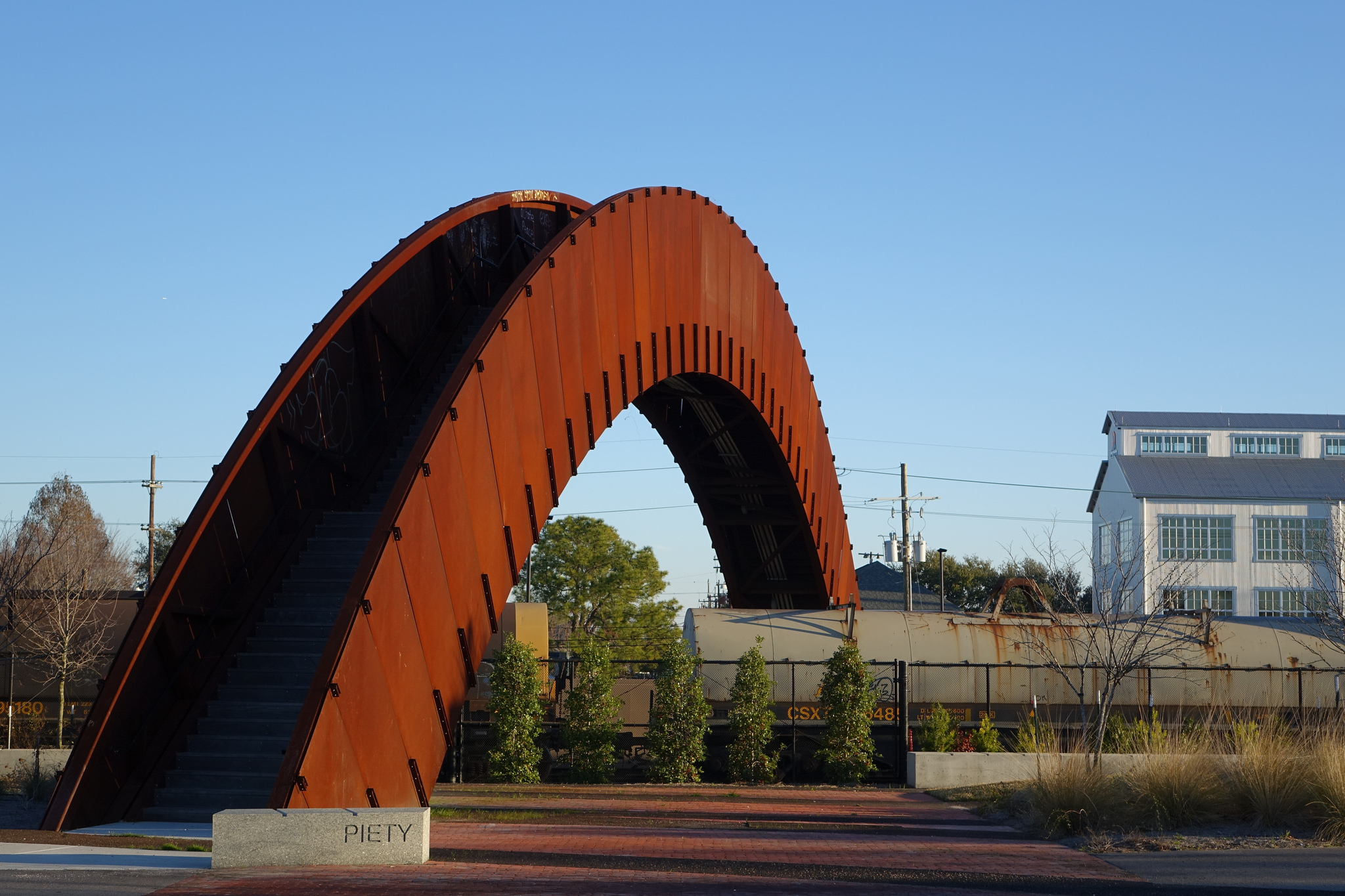 The Piety Street pedestrian bridge at Crescent Park (photo: Paul Broussard)