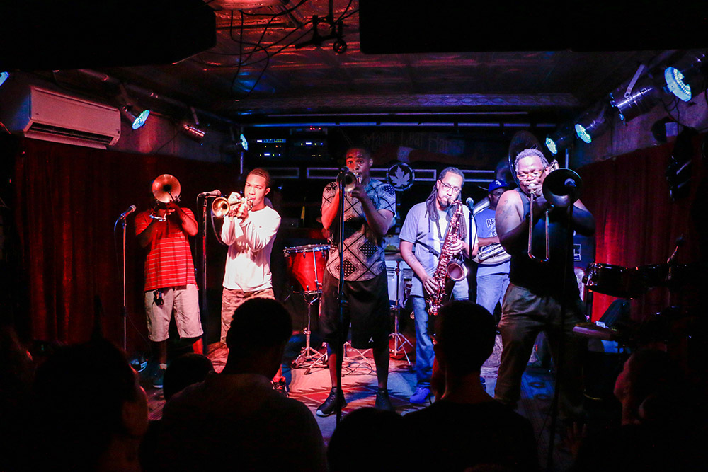 Tuesday night means Rebirth Brass Band at the Maple Leaf (Photo: Rebecca Ratliff)