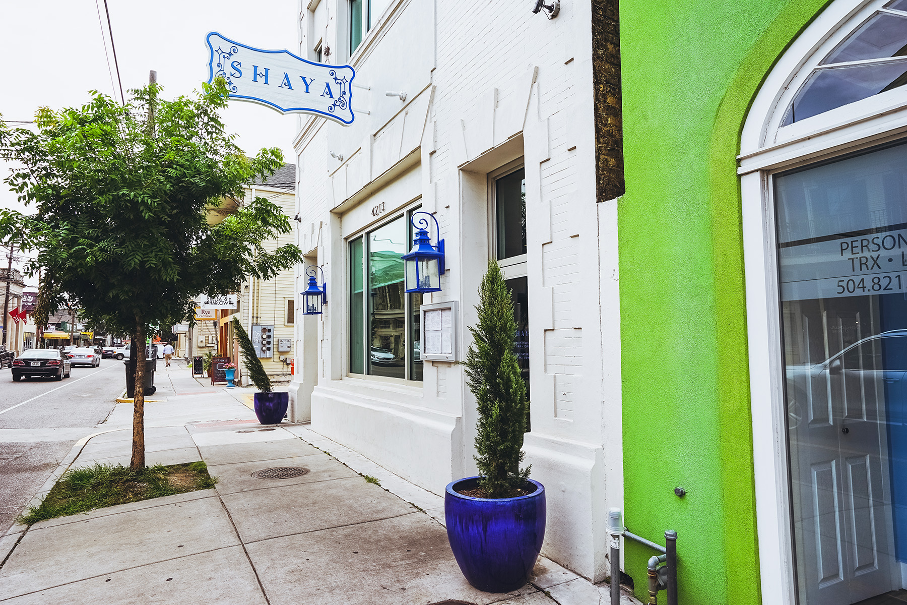 Shaya, where Chef Zachary Engel spends his days. (Photo by Paul Broussard)