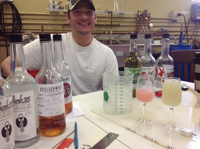Co-owner Skylar Rosenbloom enjoys sharing the wares at Atelier Vie's distillery in Mid-city.