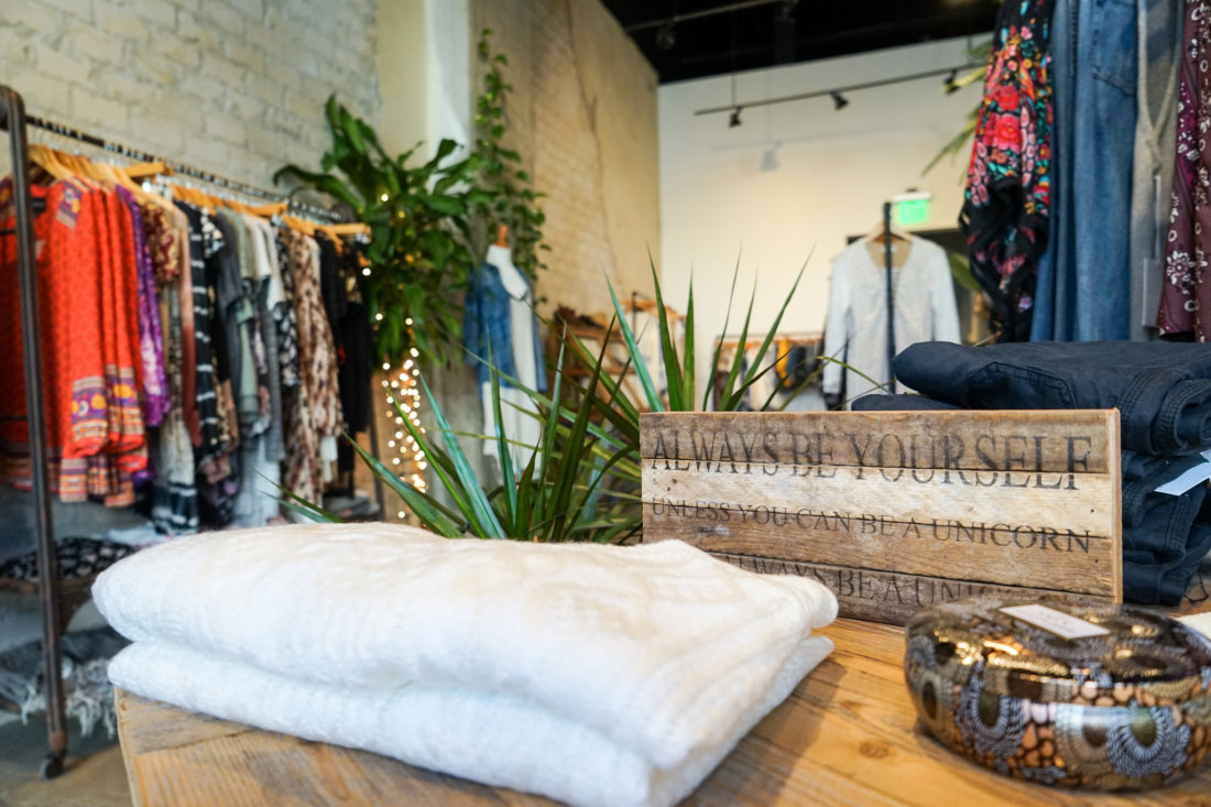 Stonefree Boutique, next door to Barre3 on the O'Keefe Avenue side of the Paramount building is a new, upscale women's boutique that focuses on the latest in bohemian casual chic clothing and jewelry. You'll definitely find the perfect outfit for shopping and sightseeing in style or for a music festival. Owner Meghan Koch has a decisive eye and excellent style as a former wholesale fashion rep.