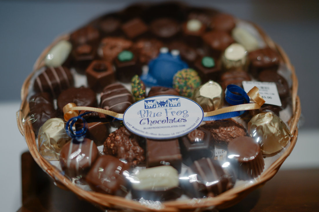 Blue Frog has pre-prepared truffle gift baskets, and can create a custom gift for you on the spot. They ship anywhere in the United States, too.
