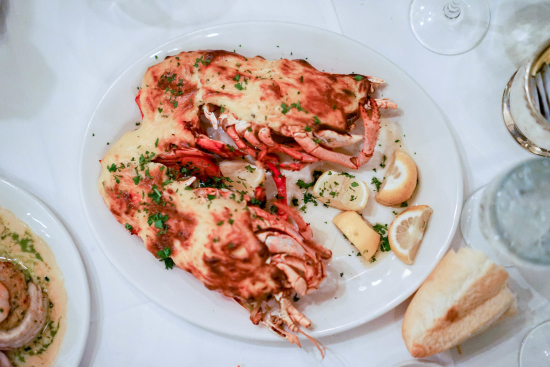 This was the first dish that turned heads throughout the restaurant. Although we didn't catch it, (lobster is found nowhere near Louisiana), Lobster Thermidor is an old-school dish you don't see too often in restaurants anymore. Galatoire's makes this dish especially well. Thanks, Chef Michael!