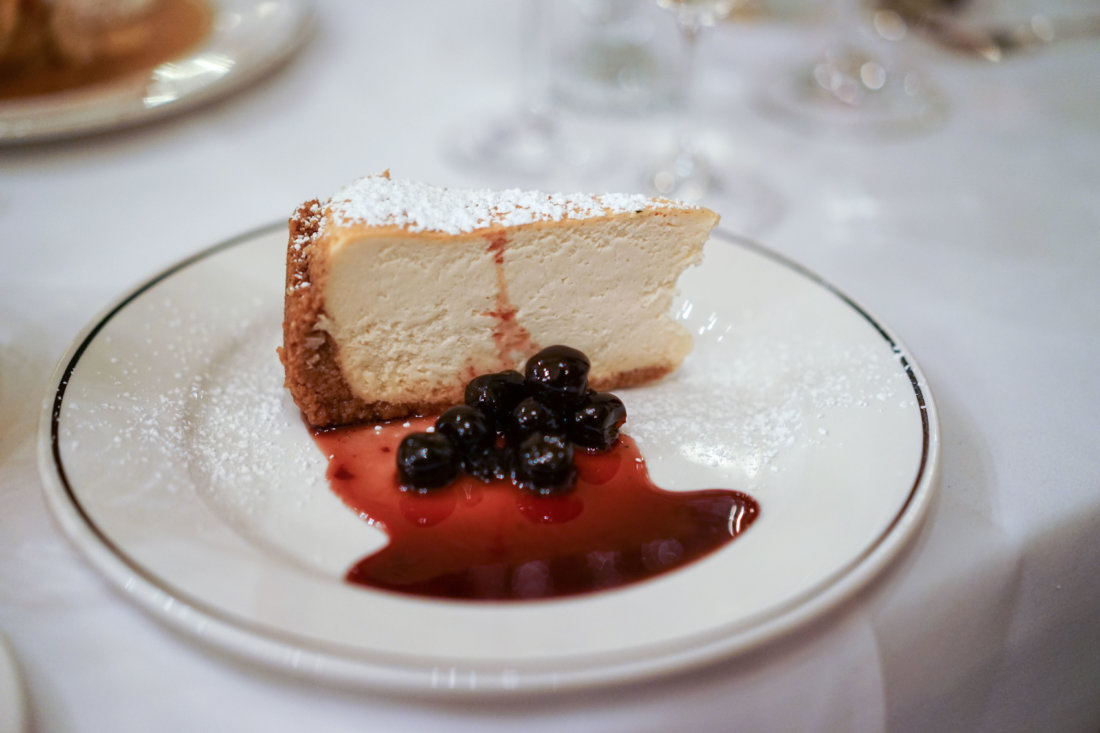 Galatoire's and 33 Executive Chef Michael Sichel hails from the New York area, so it's no wonder that this New York style cheesecake is on the menu at 33. This was the brandy-soaked cherry on top of the incredible meal.