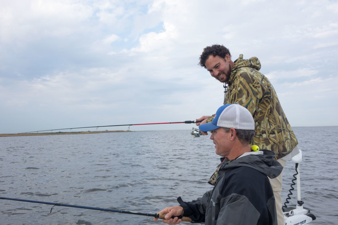 This is what I'll remember most about that day: our Captain Wayne Gonzales and Chef Michael Sichel laughing and cracking jokes. Fishing with a group is as much about the company as it is catching fish.