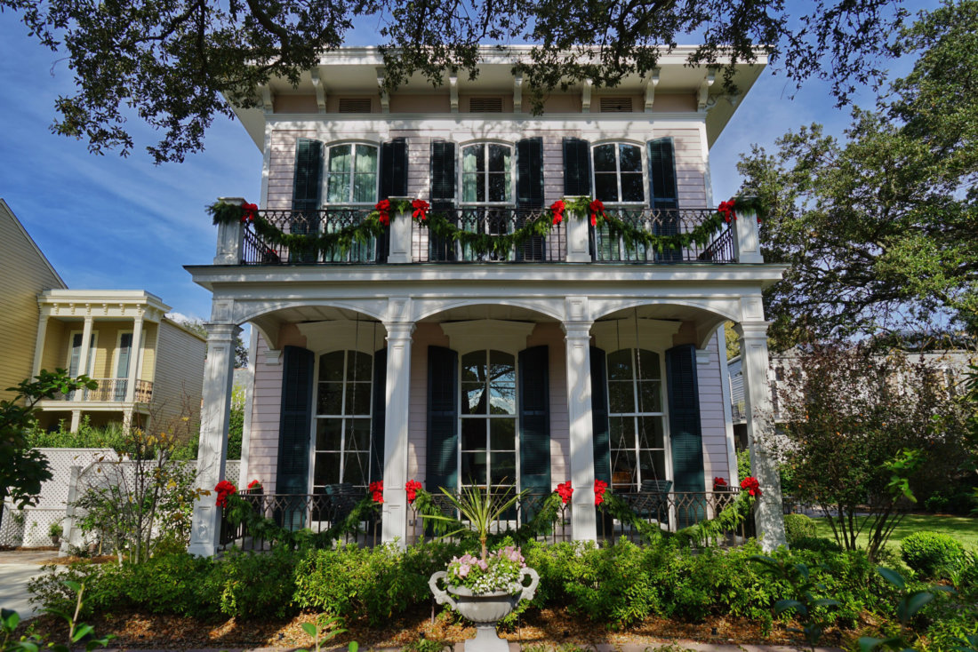 This Garden District home on Coliseum Street is just one of more than a half a dozen homes decorated and open to the public on the Preservation Resource Center Holiday Home Tour