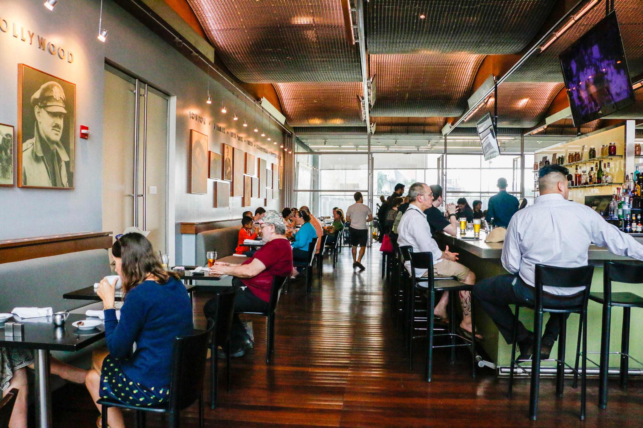 Inside The American Sector restaurant. (Photo: Rebecca Ratliff)
