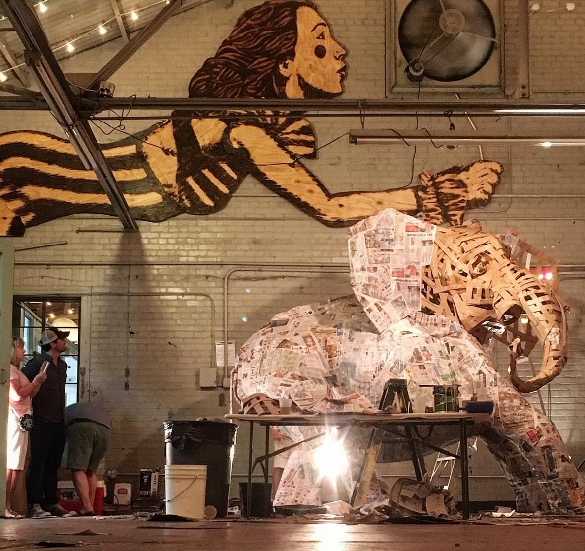 The Art Garage on St. Claude, a new concept from the Frenchmen Art Market. (Photo via @clarkerieke on Instagram)
