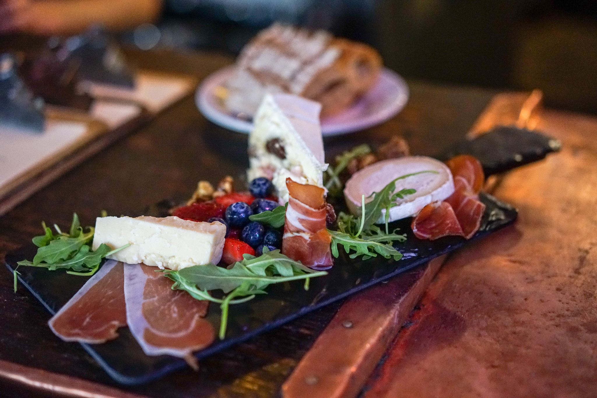 An elegant cheese, fruit, and charcuterie board from Avenue Pub. (Photo: Paul Broussard)