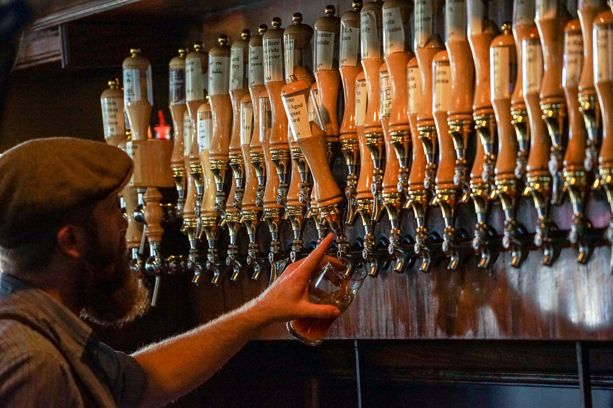 The pub carries a large selection of beer on draft using a recently renovated system. (Photo: Paul Broussard)