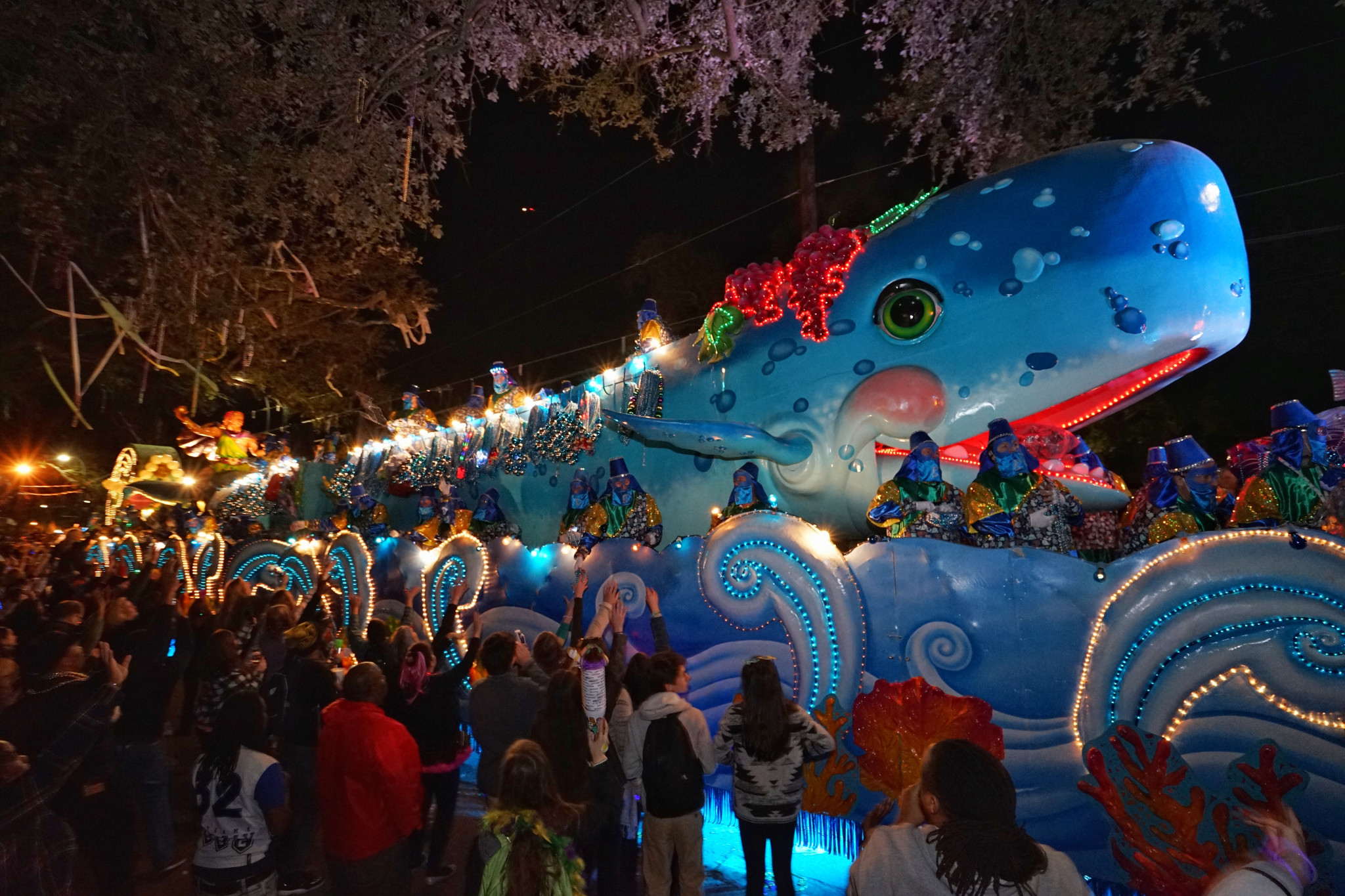 A float in the Bacchus parade. (Photo: Paul Broussard)