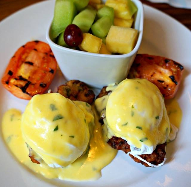 The Eggs Benedict at Criollo inside Hotel Monteleone changes daily. (Photo via Facebook)