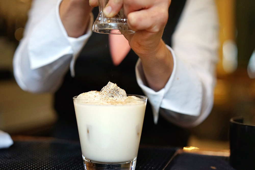 Boozy Milk Punch – all part of a very balanced breakfast at Brennan's (Photo: Paul Broussard).