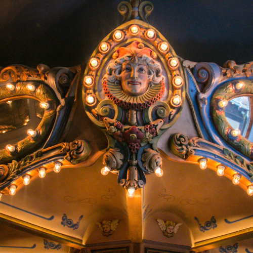carousel bar closeup