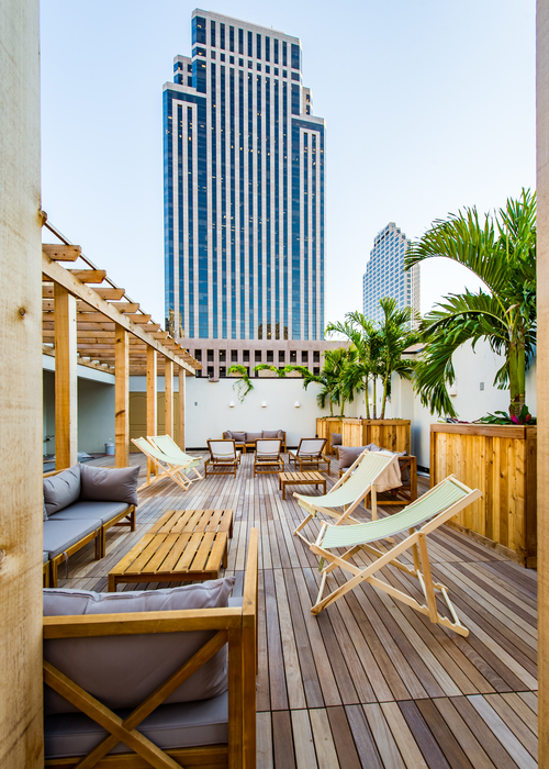 Catahoula Hotel's rooftop bar provides a relaxing space amongst the skyscrapers downtown. (Courtesy photo)