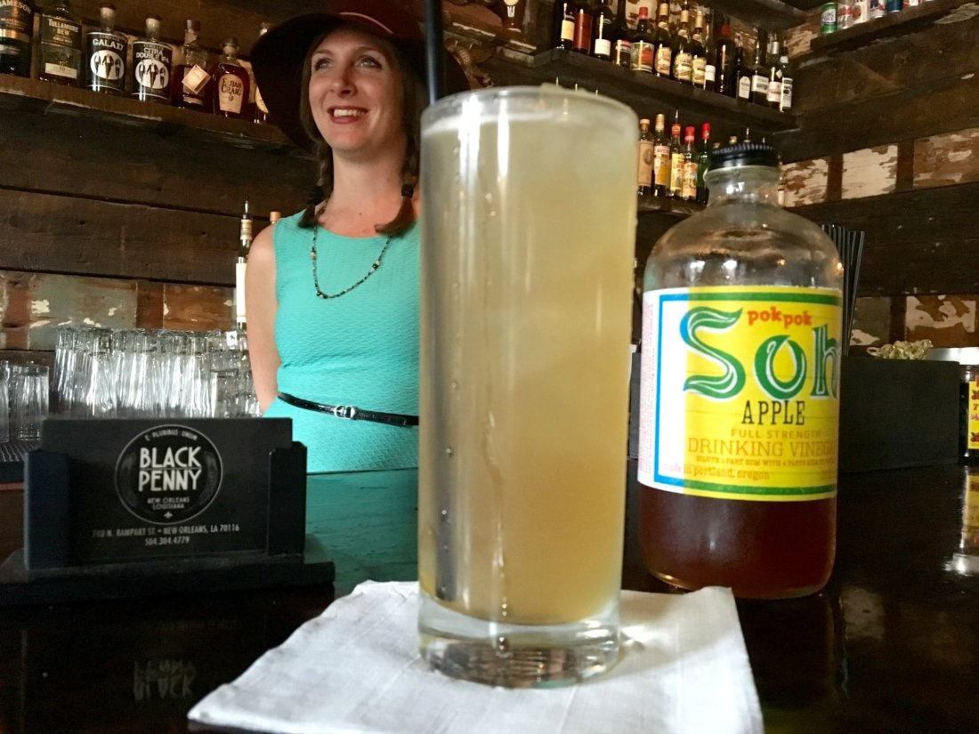 Cynthia Turner at the Black Penny has lots of secrets to make mocktails interesting. (Photo: Grace Wilson)