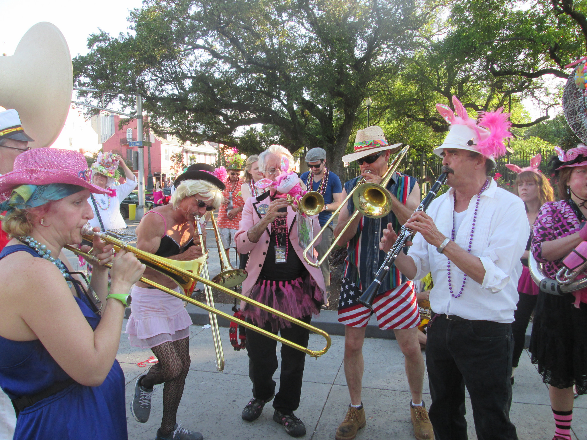Musicians play during the Gay Easter Parade. (Photo via Flickr user Infrogmation)