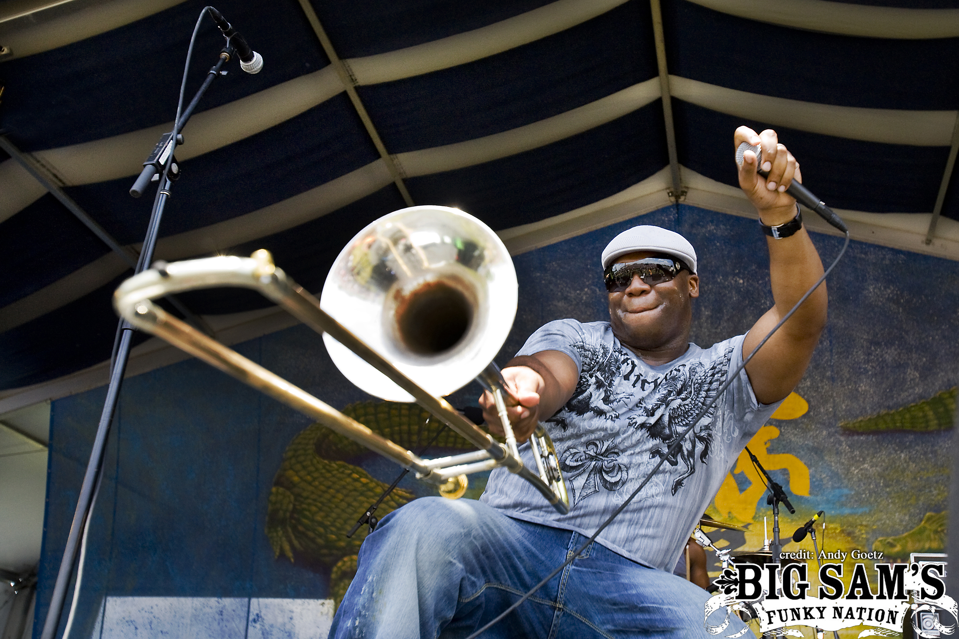 Big Sam performing at Jazz Fest 2009
