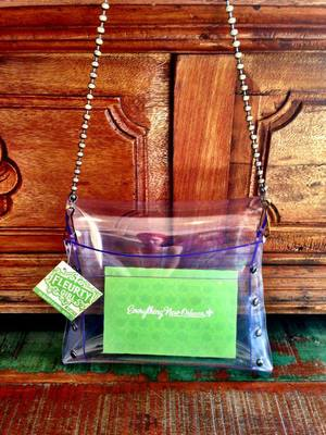 The new NFL-approved clear purse from Fleurty Girl