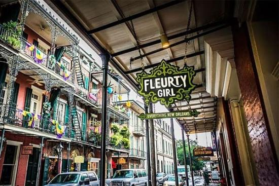 fleurty Girl celebrates all things New Orleans in the heart of the French Quarter. Image courtesy nolapage.com