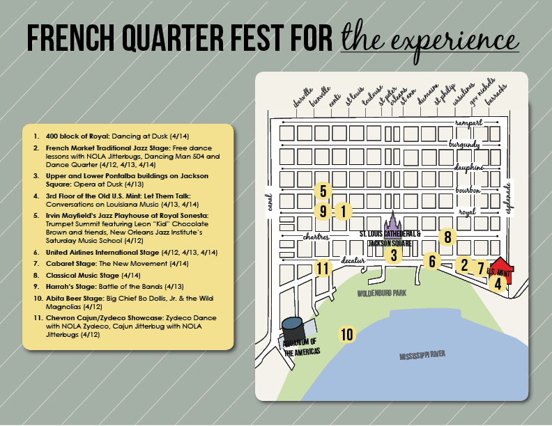 french quarter festival map