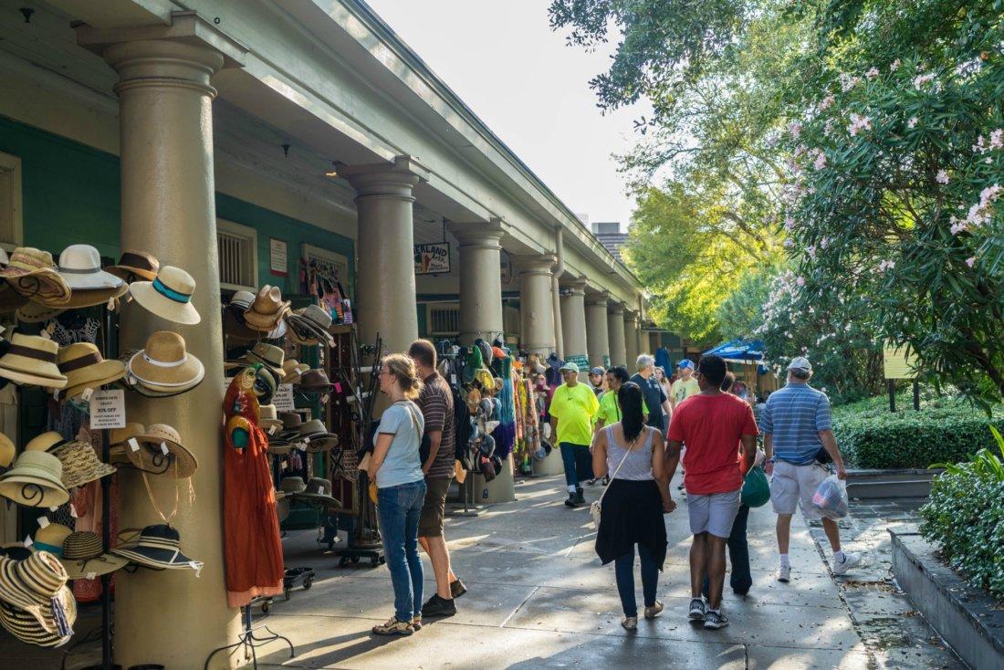 Visitors stroll through French Market. (Photo: Cheryl Gerber)