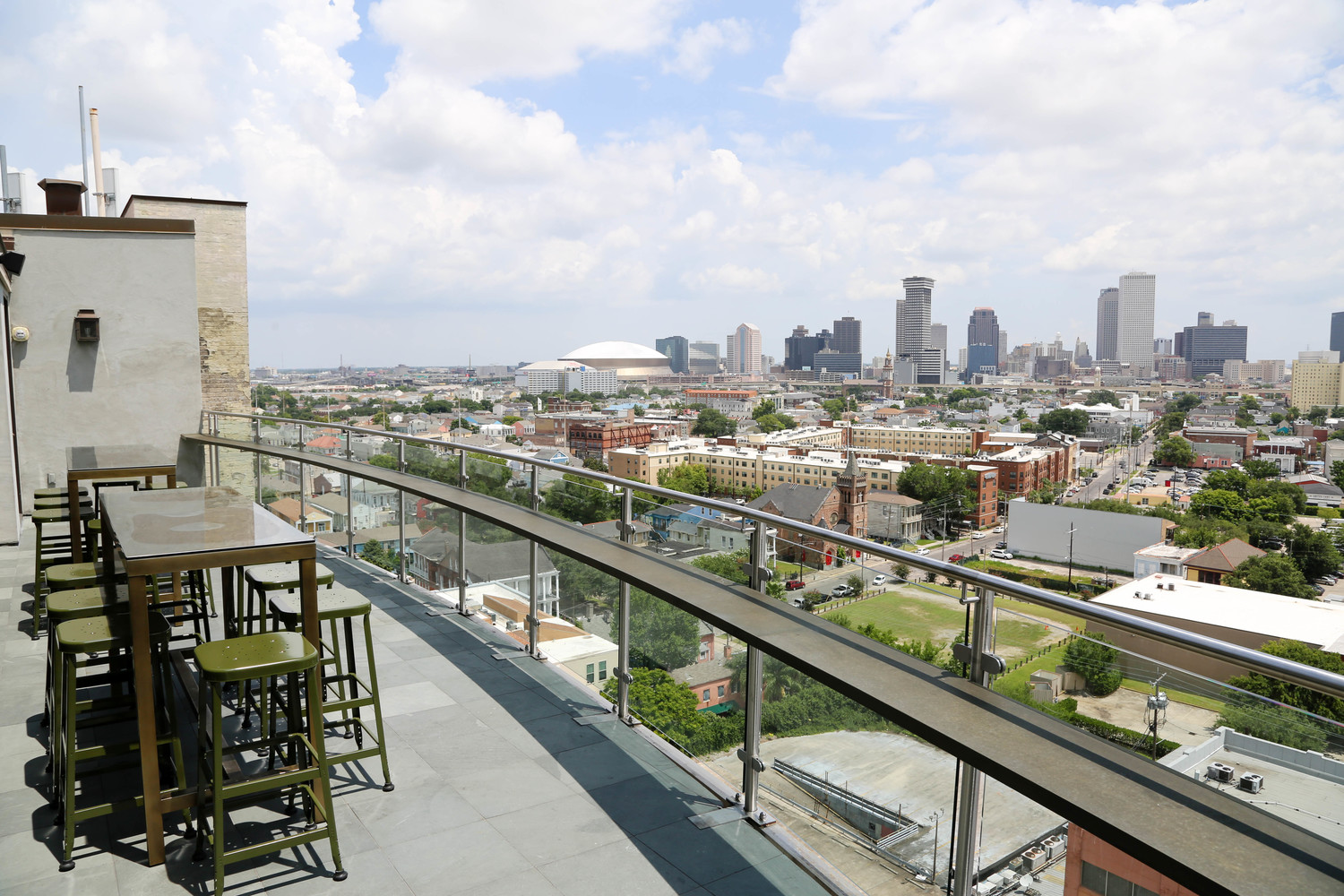 The Pontchartrain Hotel's Hot Tin has one of the city's best views of downtown. (Courtesy photo)