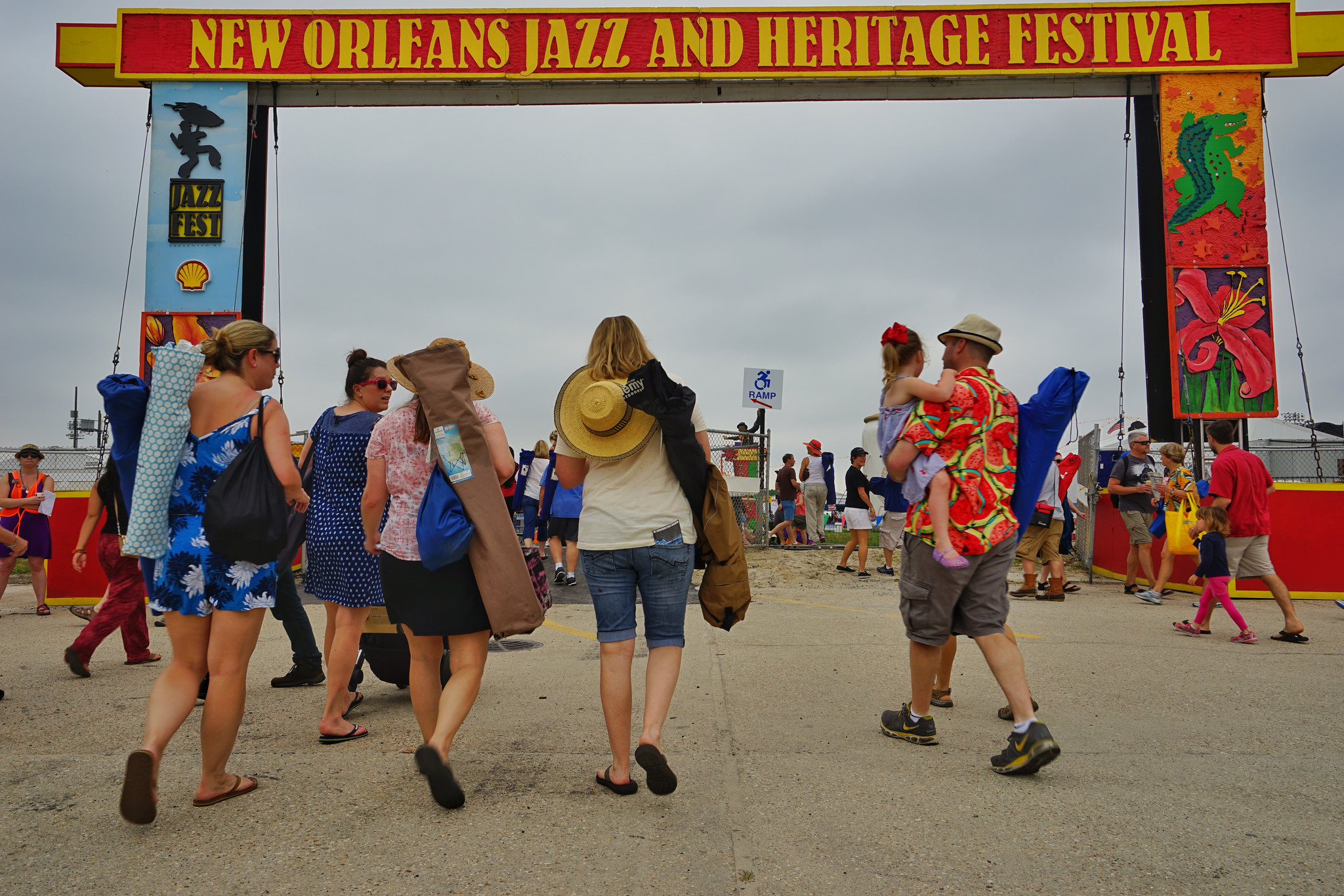 The Jazz Fest entrance. (Photo: Paul Broussard)