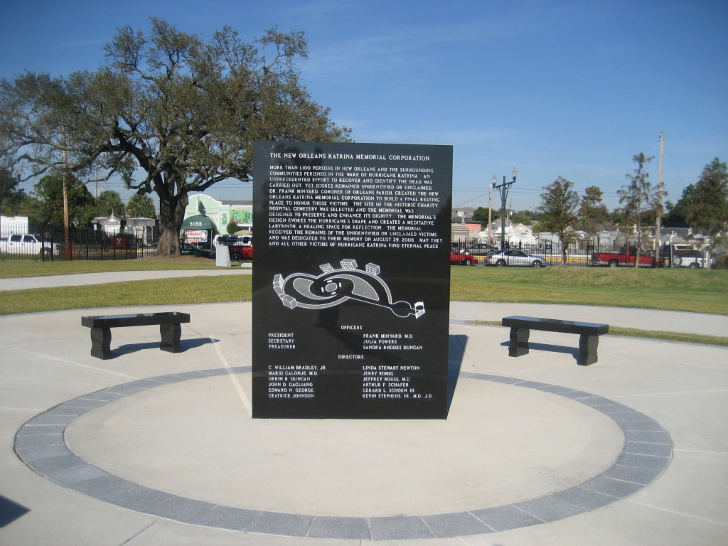 New Orleans Hurricane Katrina Memorial at Charity Hospital Cemetery. (Photo via Infrogmation on Flickr)