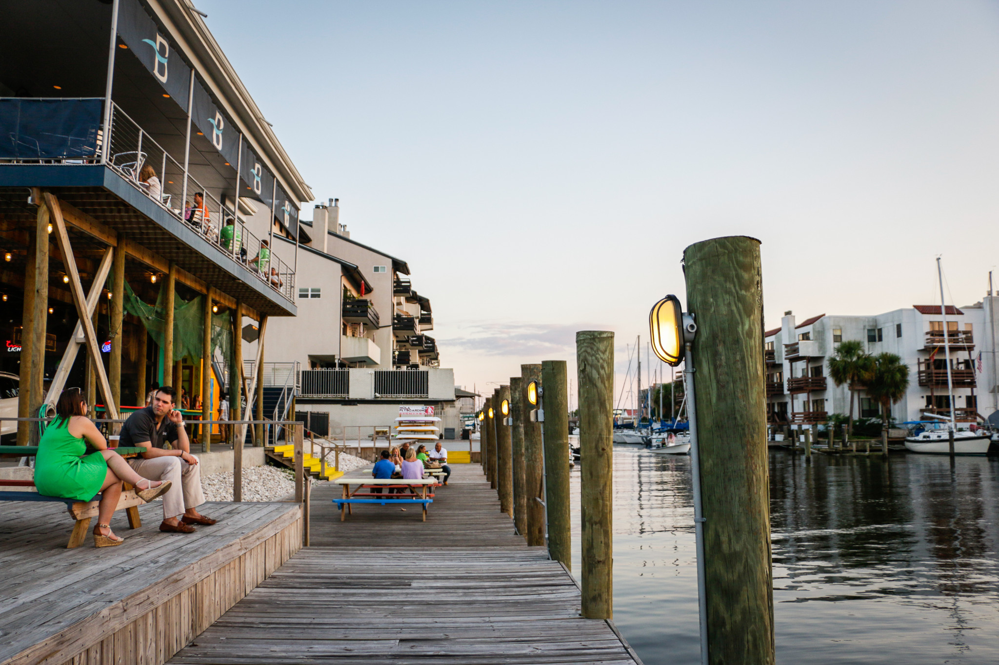 Brisbi's Seafood sits right on the water. (Photo: Rebecca Ratliff)