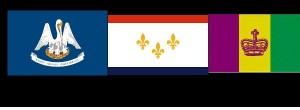 Modern New Orleans Flags