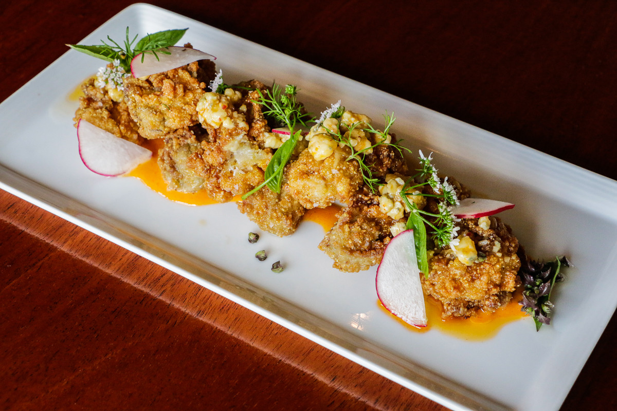"""""""Pho"""" is in the name, but you'll find more than just soup at MoPho, like these Gulf fried oysters. (Photo: Paul Broussard)"""