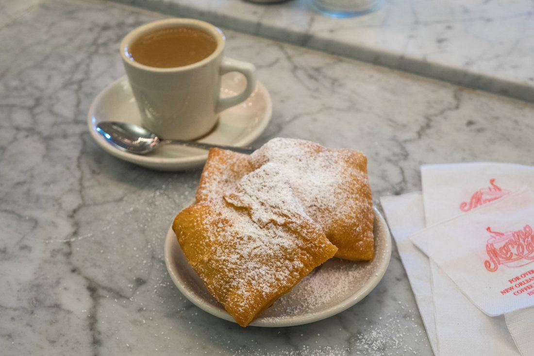 Beignets and cafe au lait from Morning Call. (Photo: Paul Broussard)