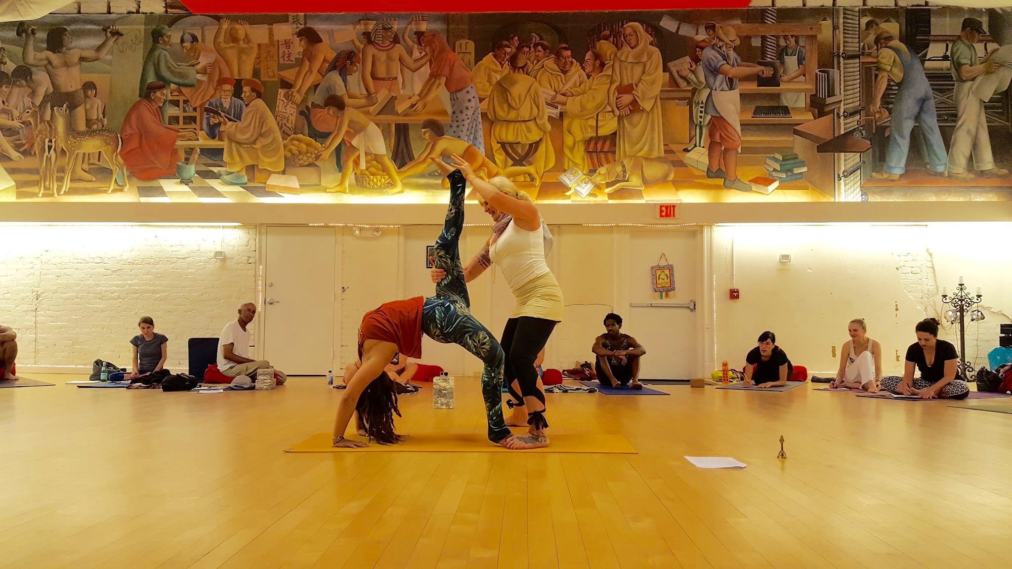 mural swan yoga
