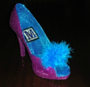 Mardi Gras Krewe of Muses Shoe