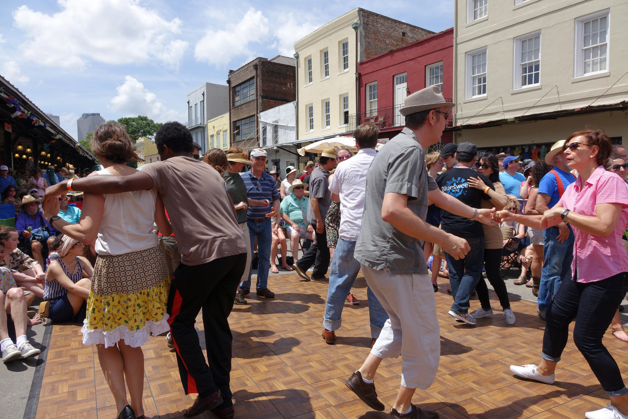 Swing dancing at French Quarter Festival. (Photo: Paul Broussard)