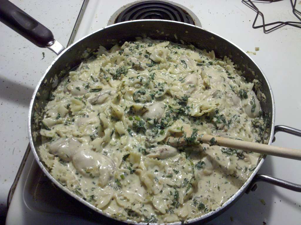 Gonola recipes at home borgnes oyster spaghetti gonola before oyster season ends while they are large and plump make this new orleans recipe for oyster spaghetti from renowned new orleans restaurant borgne forumfinder Image collections