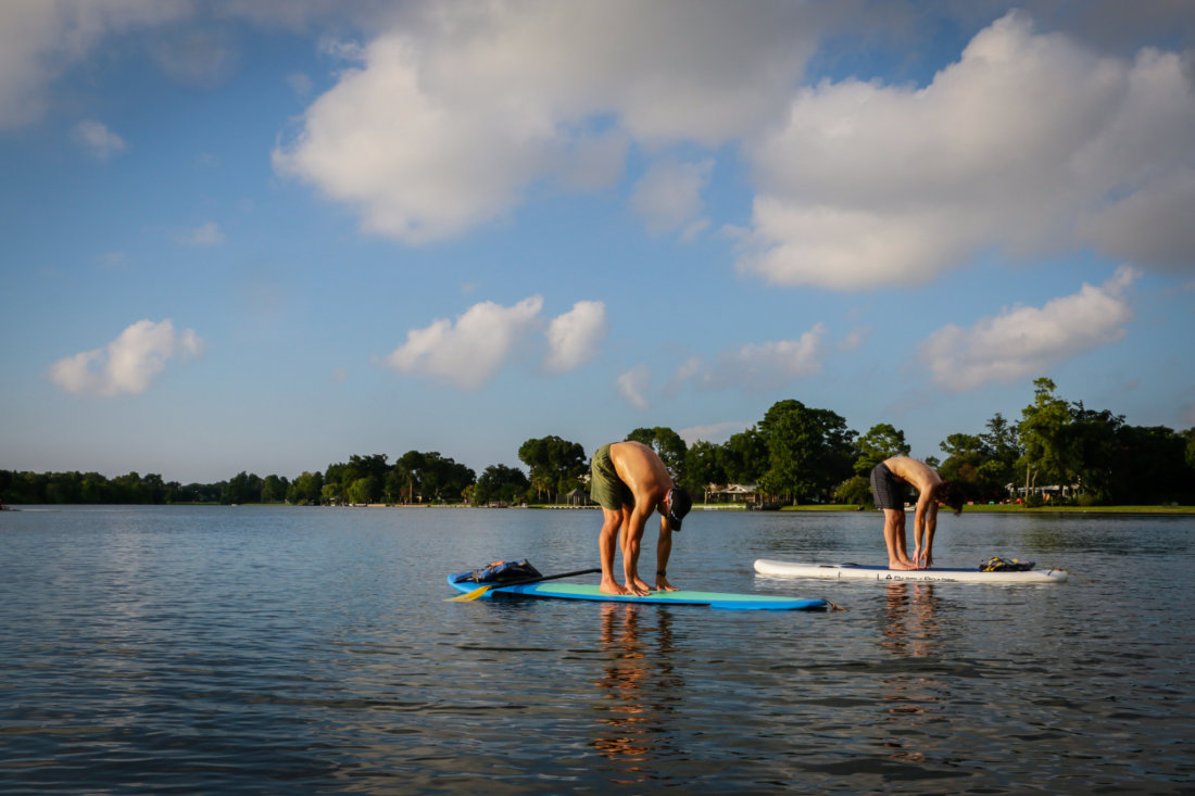 Paddleboarding on the bayou. (Photo: Rebecca Ratliff)