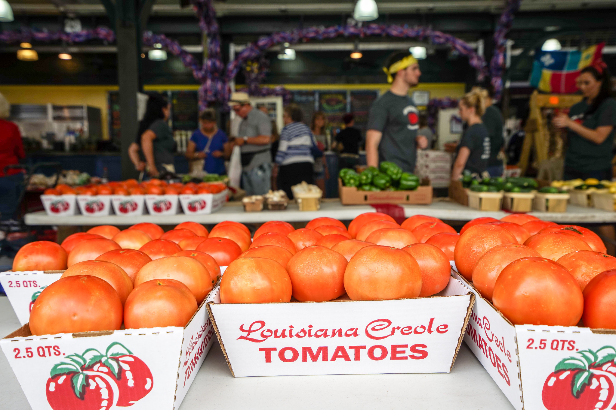 Plenty of Creole tomatoes. (Photo: Paul Broussard)