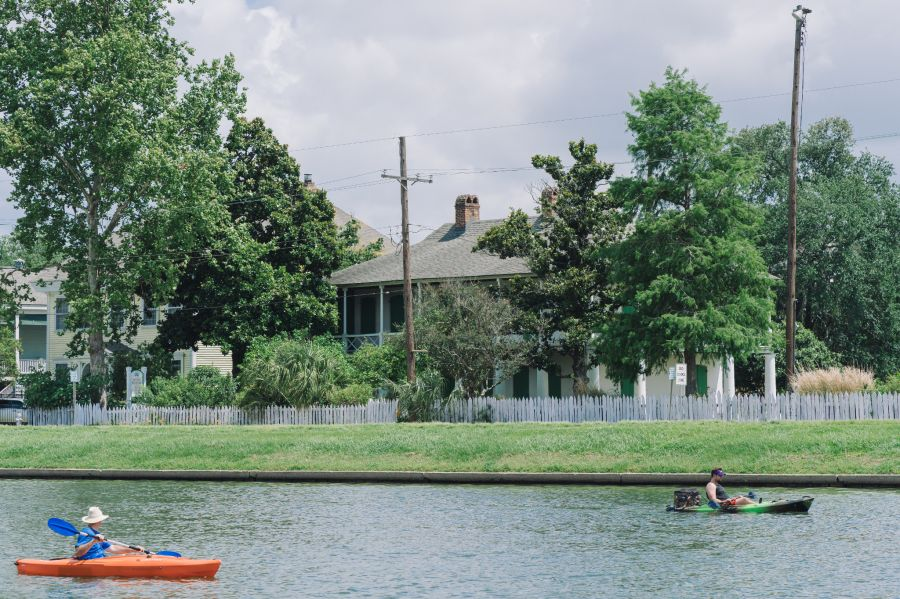 Pitot House is located next to Bayou St. John. At the time the house was built, it was a major transportation corridor. Today, locals still paddle along Bayou St. John. (Photo: Paul Broussard)