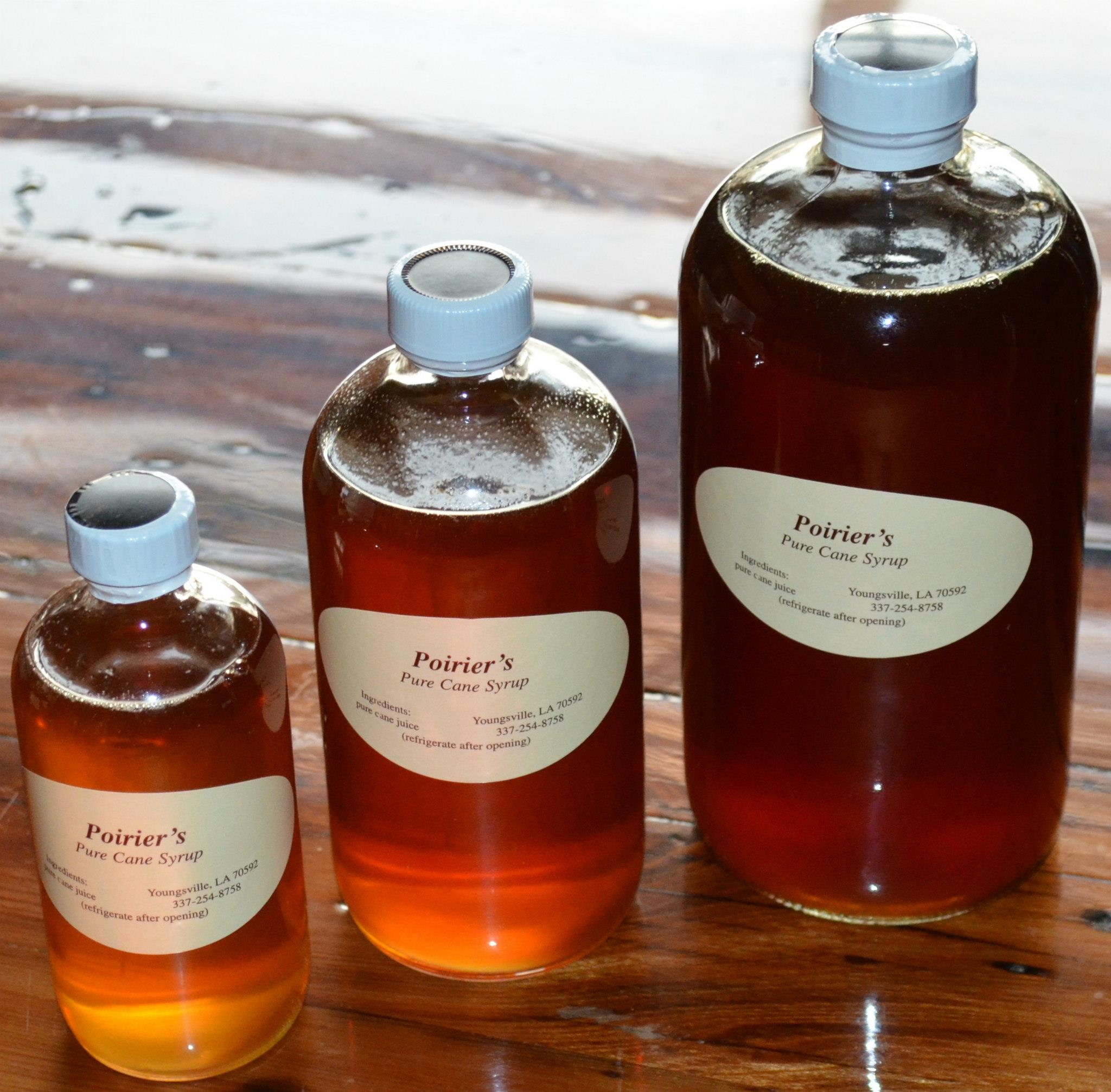 Poirier's cane syrup. (Photo via Poirier's on Facebook)