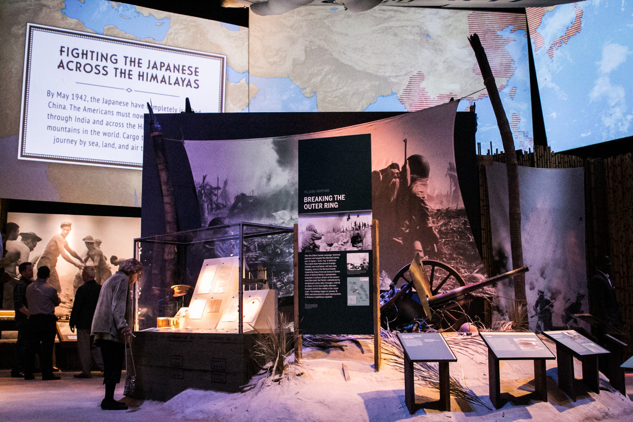 An immersive trip into the Himalayas as part of the Campaigns of Courage exhibit. (Photo: Rebecca Ratliff)