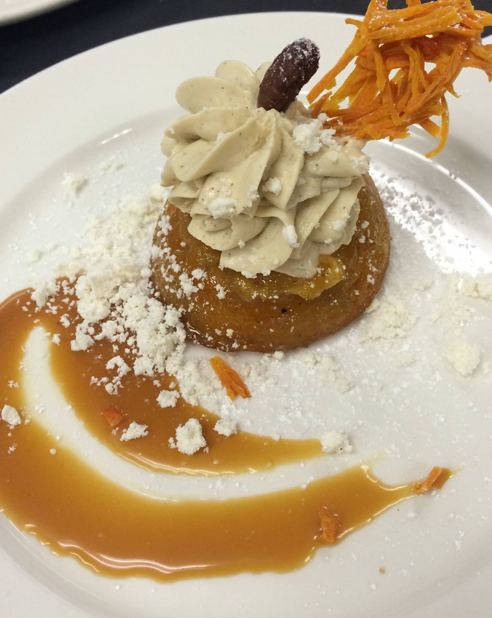 Roasted Pecan Carrot Cake with foie gras icing from Commander's Palace. (Photo courtesy Commander's Palace on Facebook)
