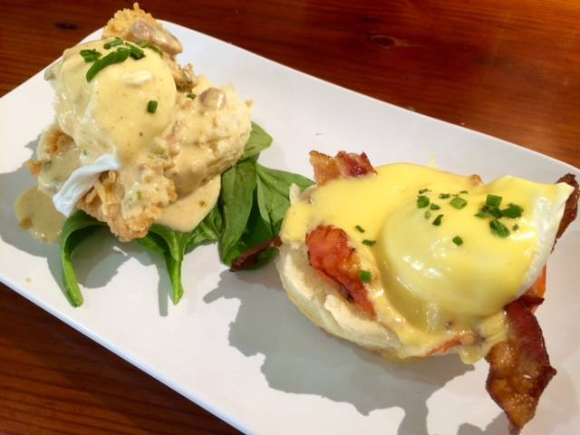 Two types of Benedicts from Ruby Slipper. (Photo via Facebook)